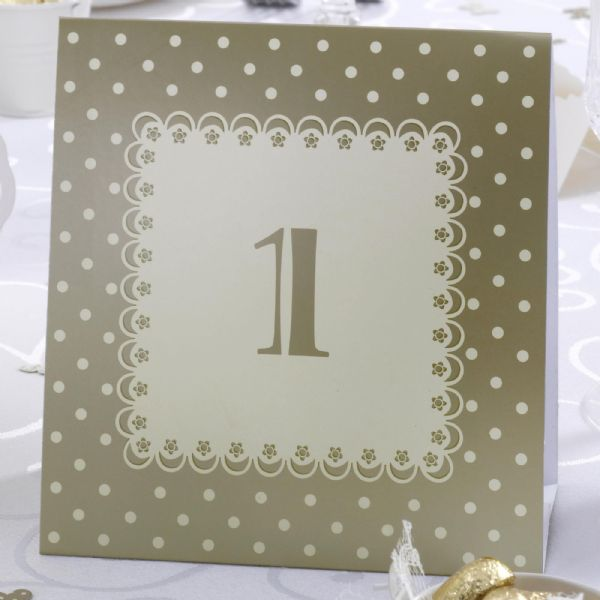 Chic Boutique Table Numbers - Ivory & Gold (12)